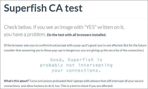 Superfish-Test