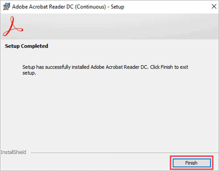 To solve Acrobat failed to connect to a DDE server Click on Finish to exit Repair window of Acrobat Reader
