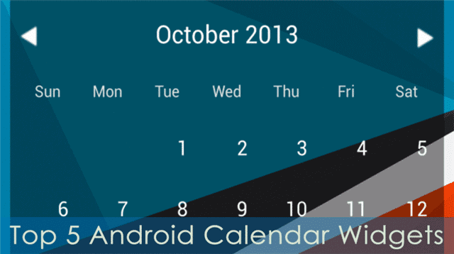 Top-Android-Calendar-Widgets