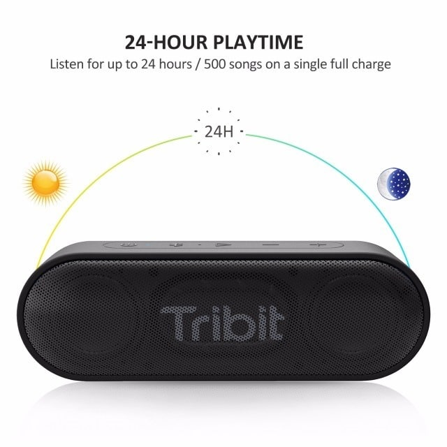 Tribit XSound Go Portable Bluetooth Speaker battery life