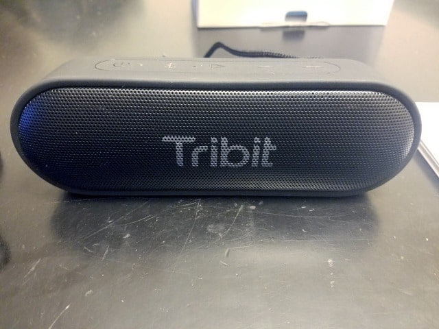 Tribit's Bluetooth speaker in use