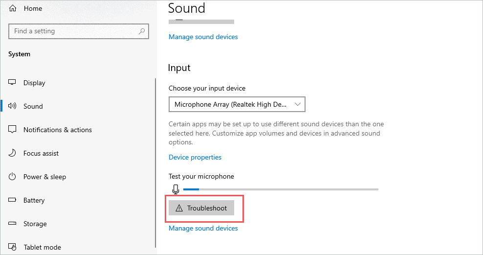 Troubleshoot to fix sound not working windows 10