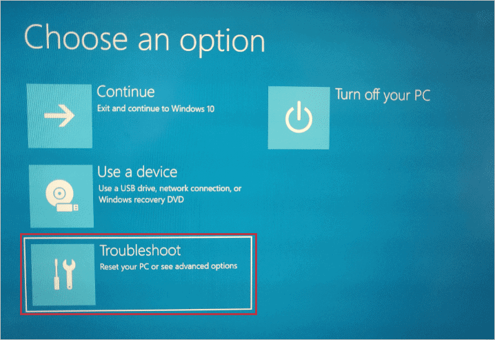 choose-troubleshoot-option
