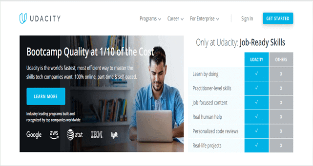 best online learning sites Udacity