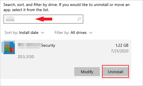 Uninstall antivirus to fix the default gateway is not available windows 10
