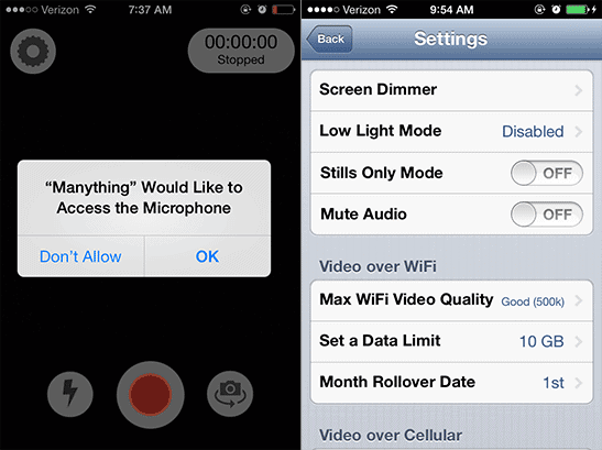 Open-the-Manything-settings-to-adjust-video-or-network-settings