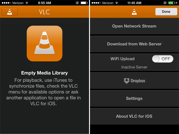 VLC Media Player for iOS Adds Dropbox Sync, File Uploads Over WiFi