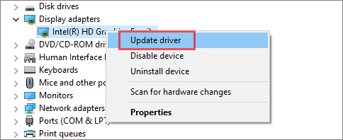 Update Display Drivers to fix laptop screen flickering