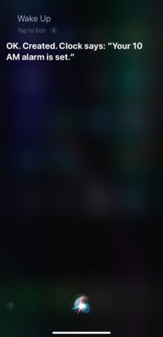 Using the Siri Shortcut