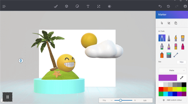 Windows 10 Creators Update Paint 3D