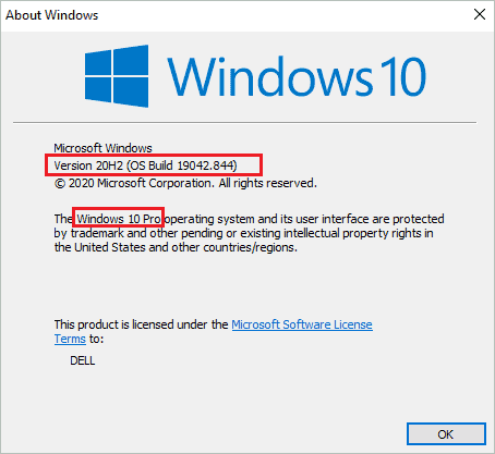 how to check windows 10 version details