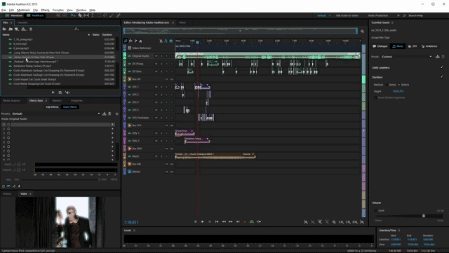 Adobe Audition with music tempos