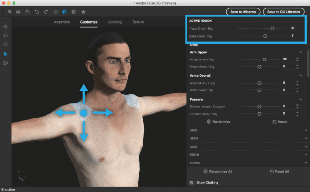 Fuse app with a human figure