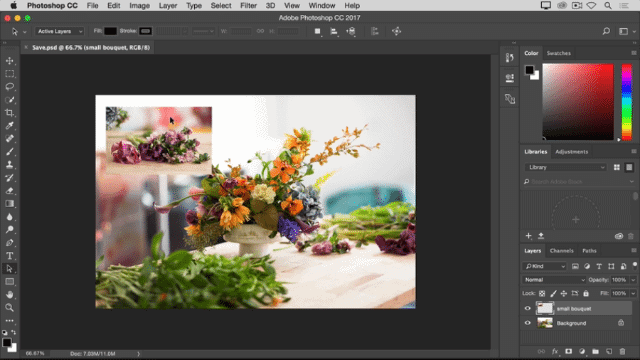 photoshop colorful flowers