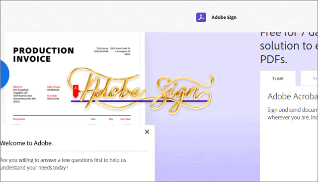 adobesign sign online
