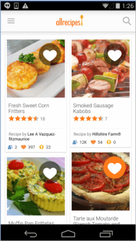 allrecipes fathers day app