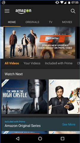 amazon prime video android tv apps 1
