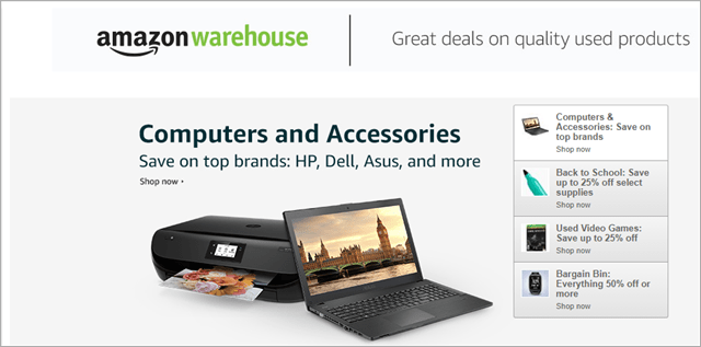amazon warehouse best place to buy used computer parts