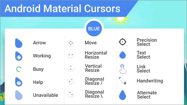 android material cursors mouse cursor