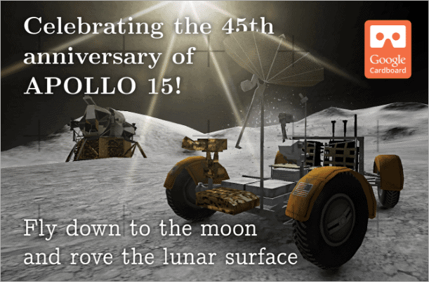 apollo 15 moon landing android vr apps