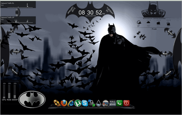 batman-rainmeter-skin