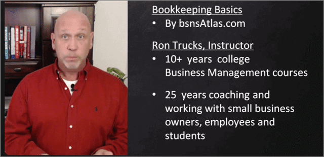 online bookkeeping courses by Ron Trucks