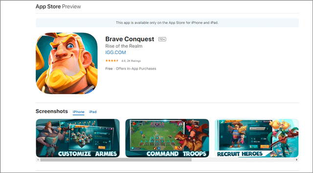 brave conquest games like clash of clans