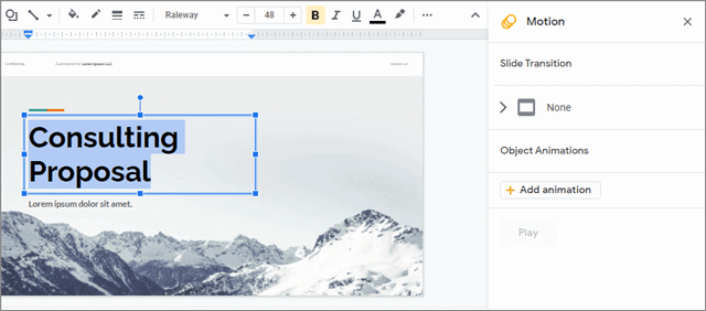 Open the animations pane by selecting the text or image
