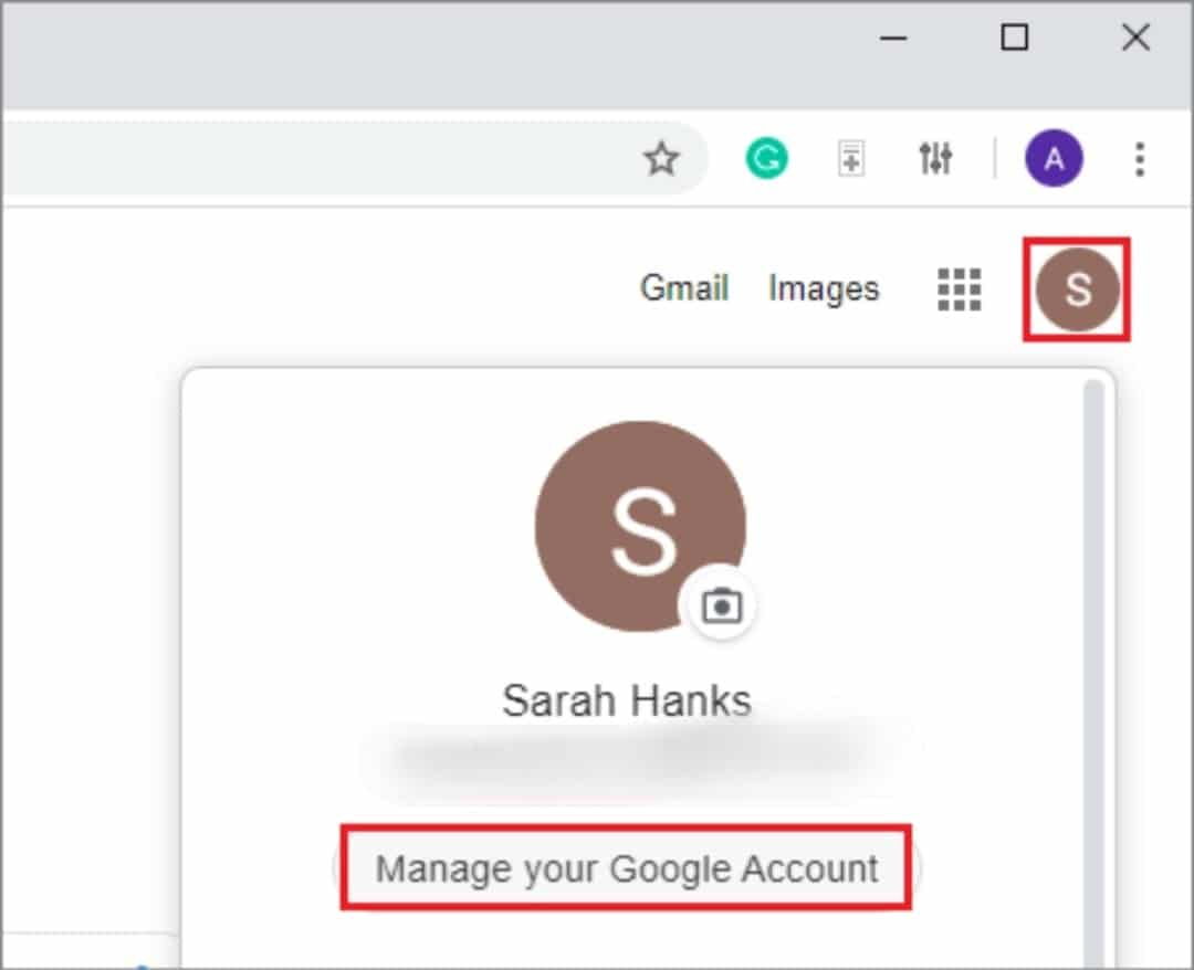 click on manage your account