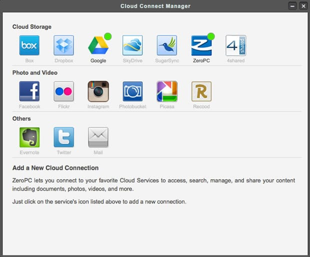 Access Multiple Cloud Services, Social Networks and Web Apps with
