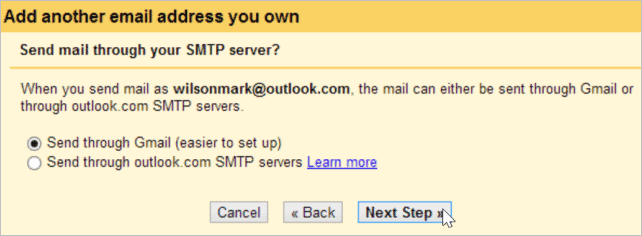 Gmail's servers can be used to send all of your email, making things very simple to set up.