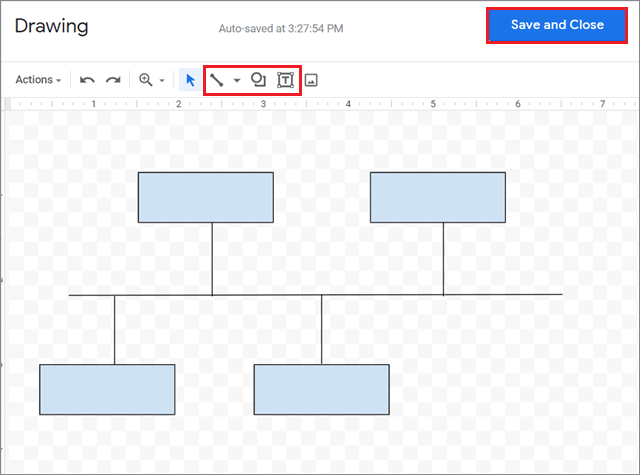 Create the template in Drawing tool