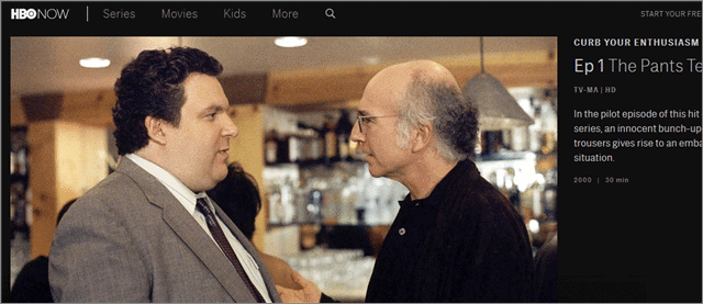 curb your enthusiasm best shows on HBO