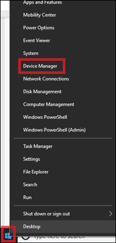 Go to device manager to turn on bluetooth