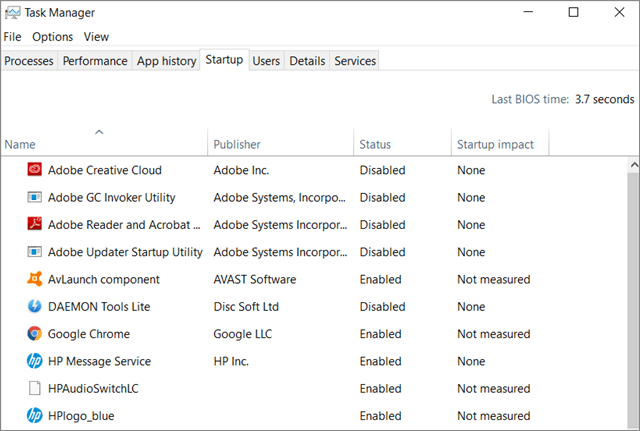 Disable high-impact tasks  To Fix Can't Create New Folder In Windows 10
