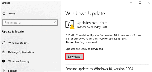 download if new updates are available to fix touch screen not working Windows 10