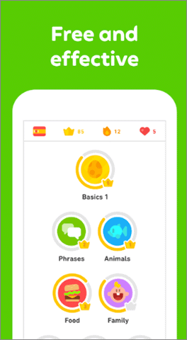 duolingo free and best learning apps