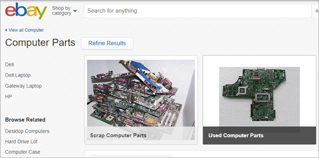 ebay used computer parts