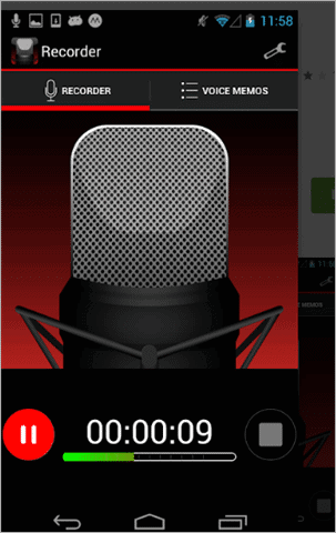 efusion  best voice recorder app for android
