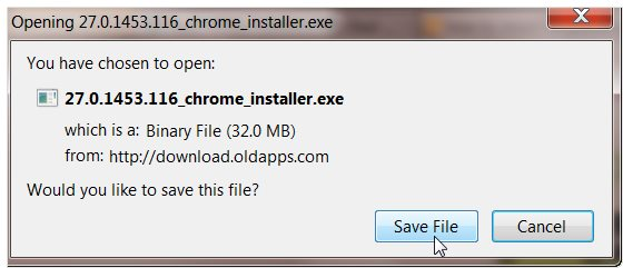 how to download older version of firefox