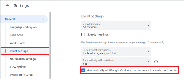 Add Gmail events automatically for how to organize Gmail