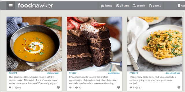 foodgawker websites like pinterest
