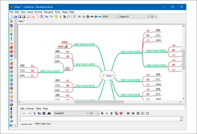 free mind mind mapping software