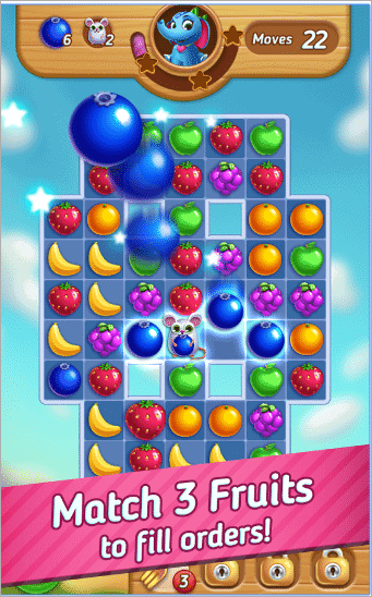 Fruits Mania: Elly's Travel best android puzzle games