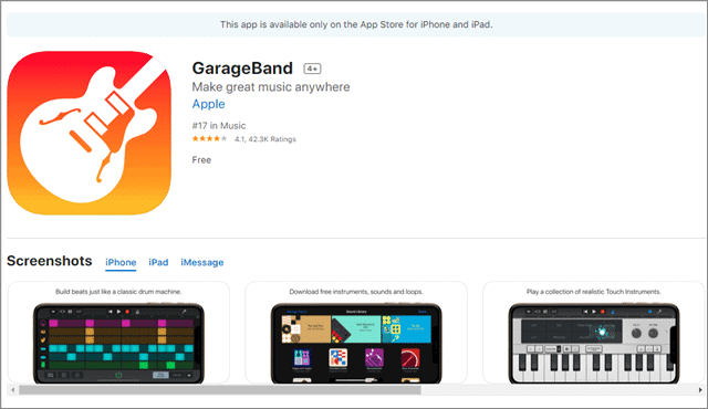 garageband app for great music