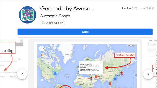 Geocode by Awesome Table
