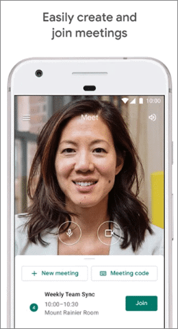 google meet video calling android apps