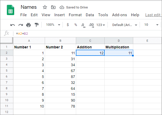 Select both the cells and drag them to the required cells