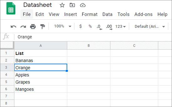 google sheets spell check done correctly