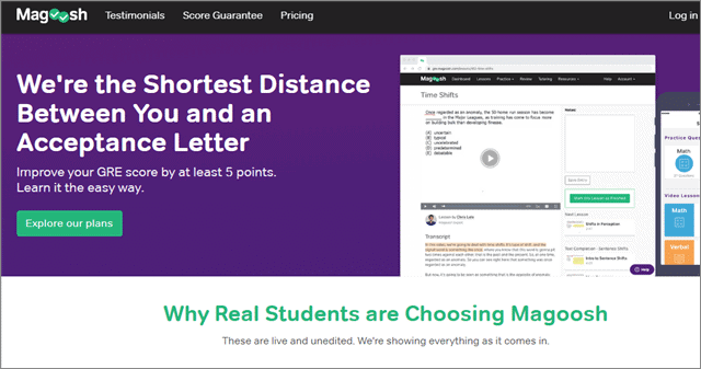 gre online prep course from magoosh